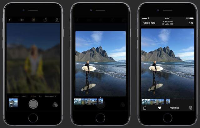 funzioni fotocamera 3d touch iphone 6s