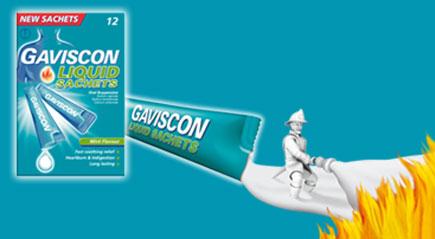 gaviscon liquid sachets how to take