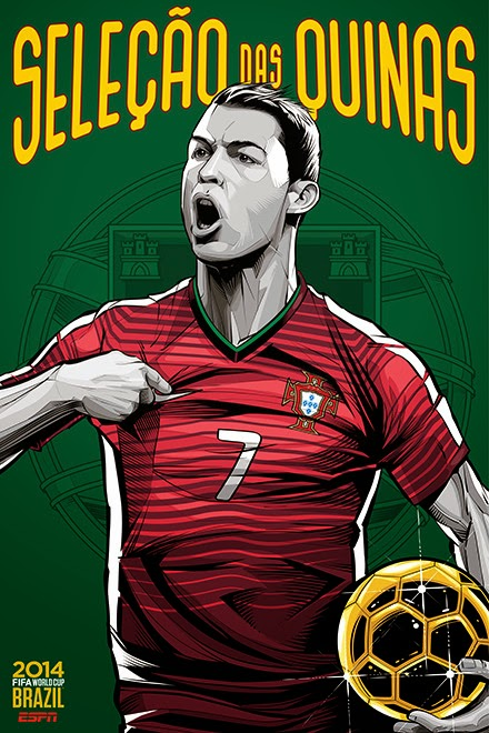 Poster keren world cup 2014 - Portugal