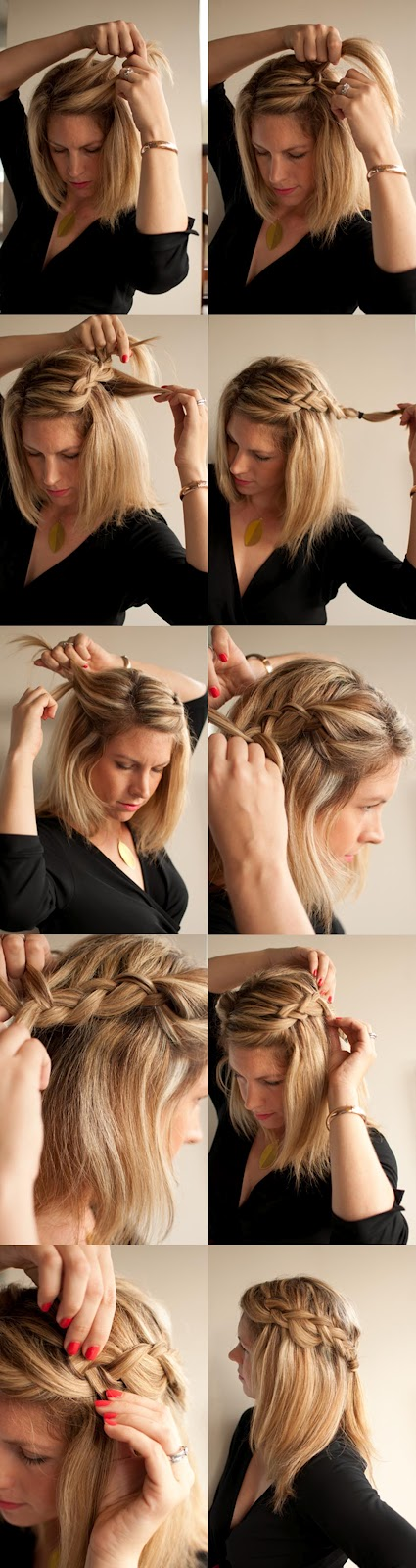 Easy and simple side braid hairstyle