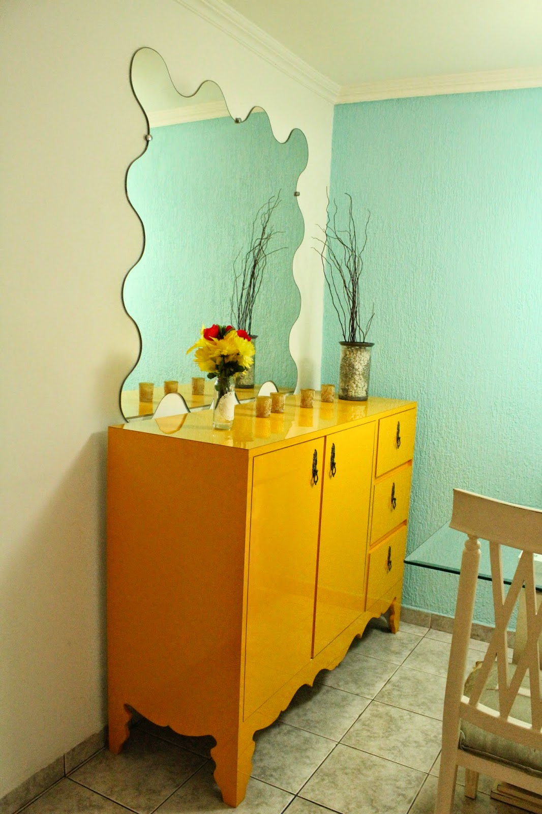sala de jantar colorida