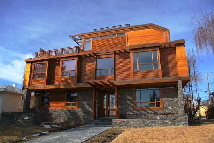 Fachadas de piedra fachadas de casas con piedra y madera - Casas madera y piedra ...