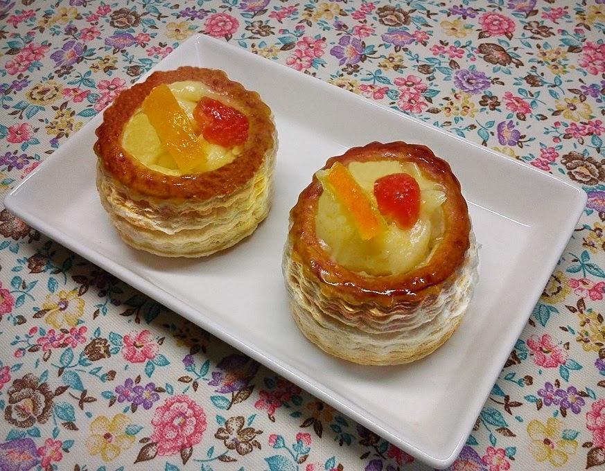 Volovanes de Orange Curd o Crema de Naranja