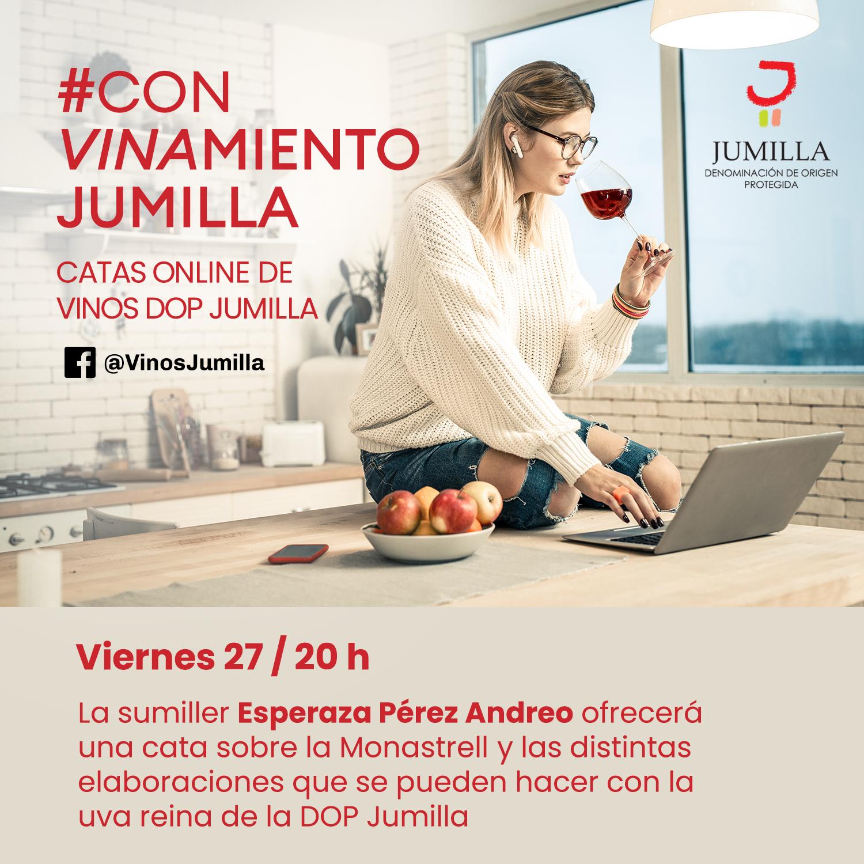 Cata online #ConVinamiento con los vinos de la D.O.P. Jumilla.