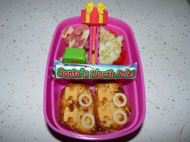 santa bento lunch