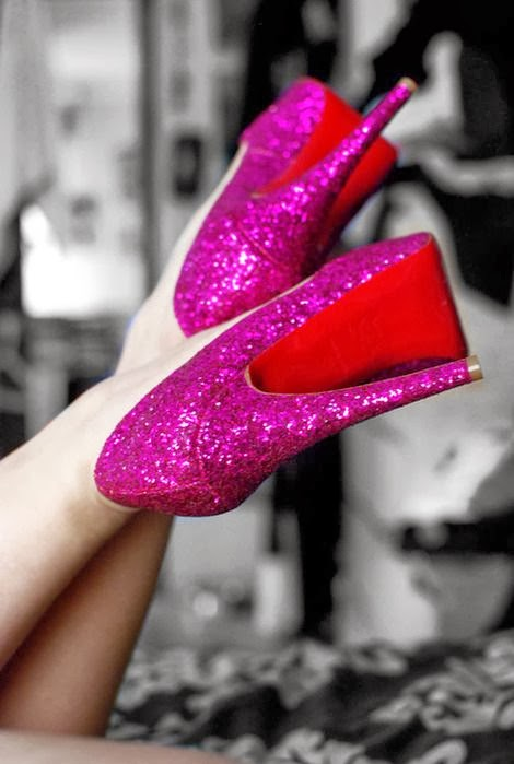 Sparkling pink party shoes