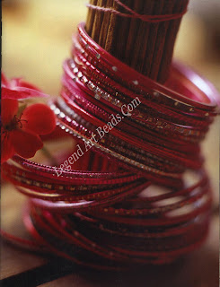 Modern Indian bracelets. Slowly but surety, synthetic materials are replacing traditional glass, but this change does not detract in any way from the colorful aesthetic of these dozens of bangles