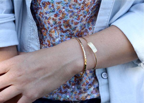 bracelets, jewelry, outfit, look, Gorjana, cuff, style blog