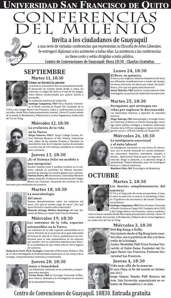 Las conferencias del milenio llegan a guayaquil en for Entradas 4 milenio