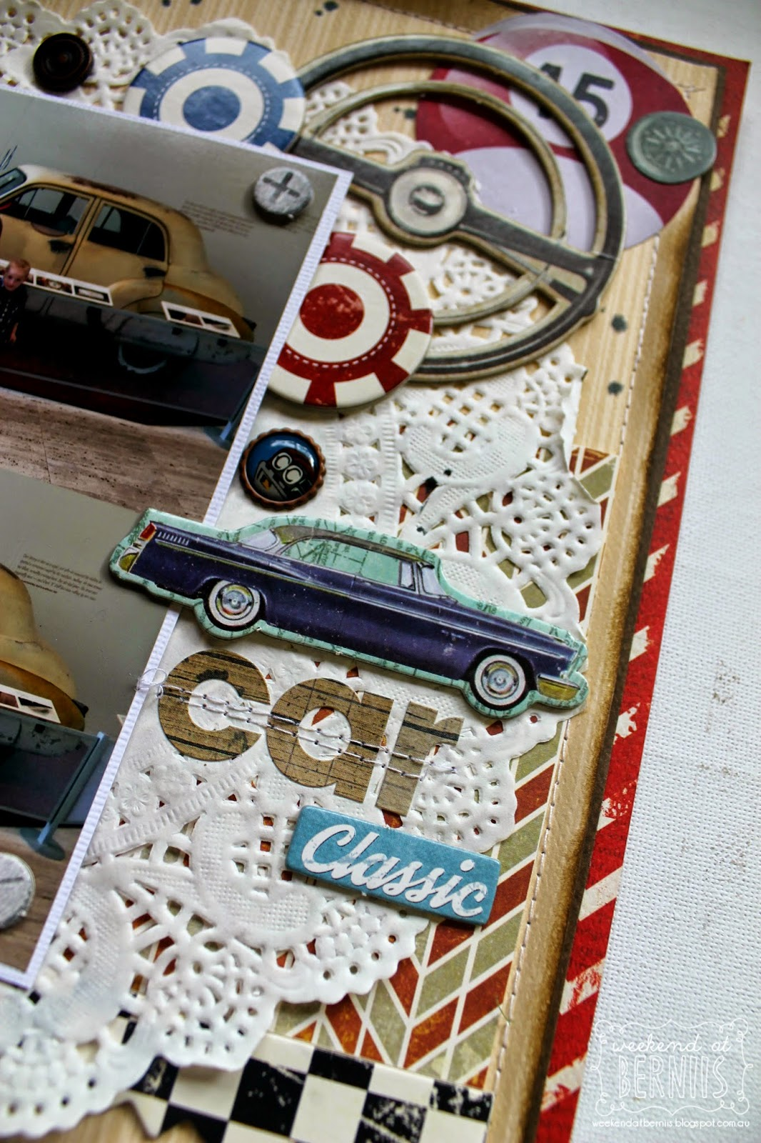 Car classic by Bernii Miller for BoBunny using Wild Card collection.