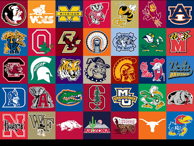 Cool Ncaa Football Backgrounds Cool college football logos