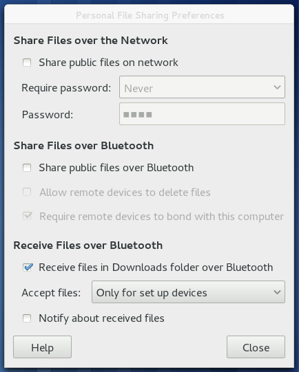 how to send via bluetooth
