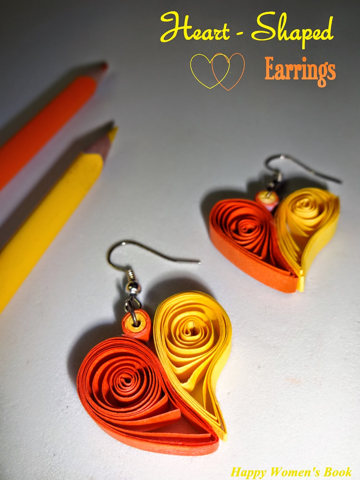 Selvas kitchen heart shaped earrings quilling l arts crafts diy quilling is an paper art which moves hot in todays market in various formsi am very happy to start my favourite arts crafts diy session kristyandbryce Choice Image