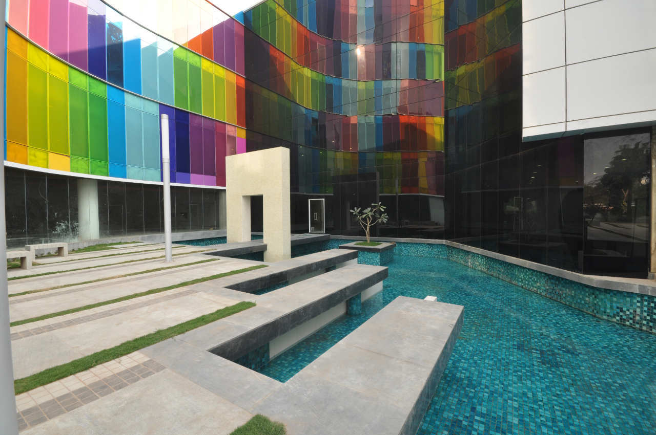 rainbow architecture pool