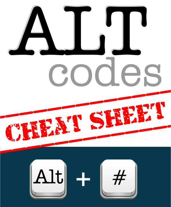 Qlixite Blog Alt Code Cheat Sheet For Business