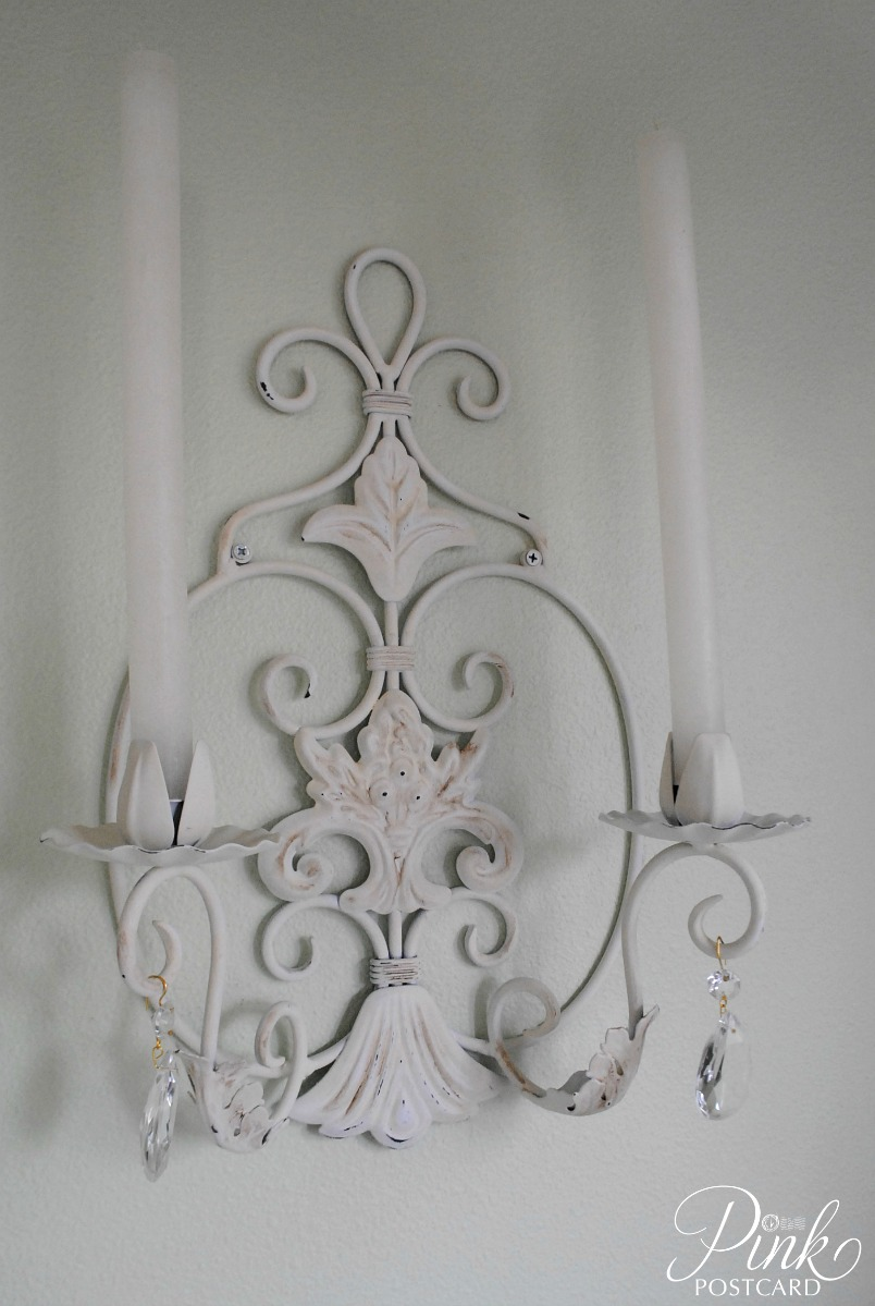 PinkPostcard.*: crystal sconces for the dining room