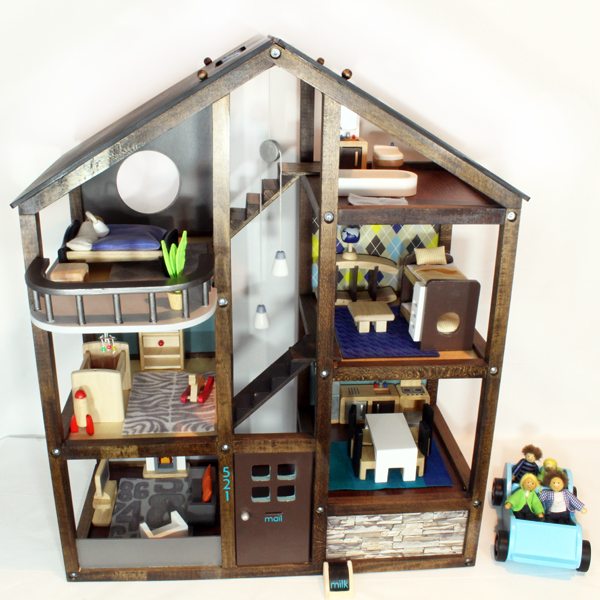 garage makeover ideas - diy with style How I Turned an f the Shelf Dollhouse