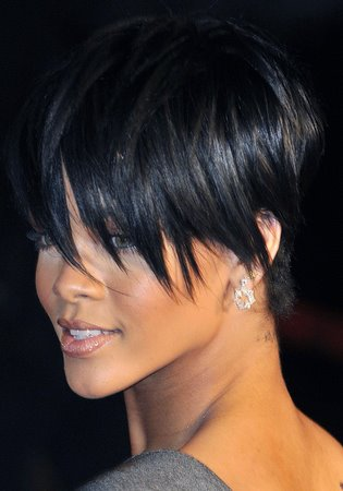 Straight Short Hairstyles by Rihanna
