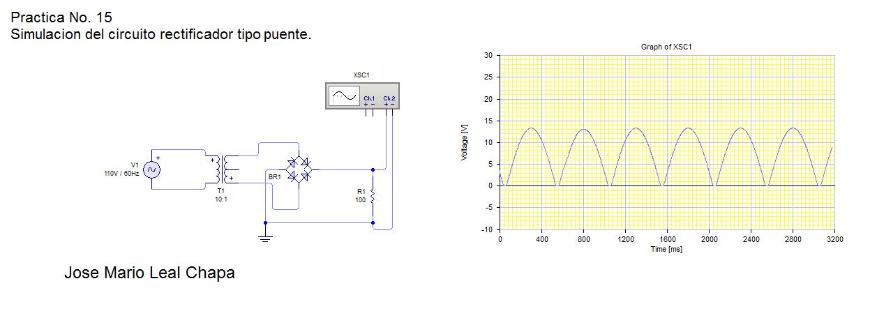Circuito Rectificador : Electronica practica no simulacion del circuito