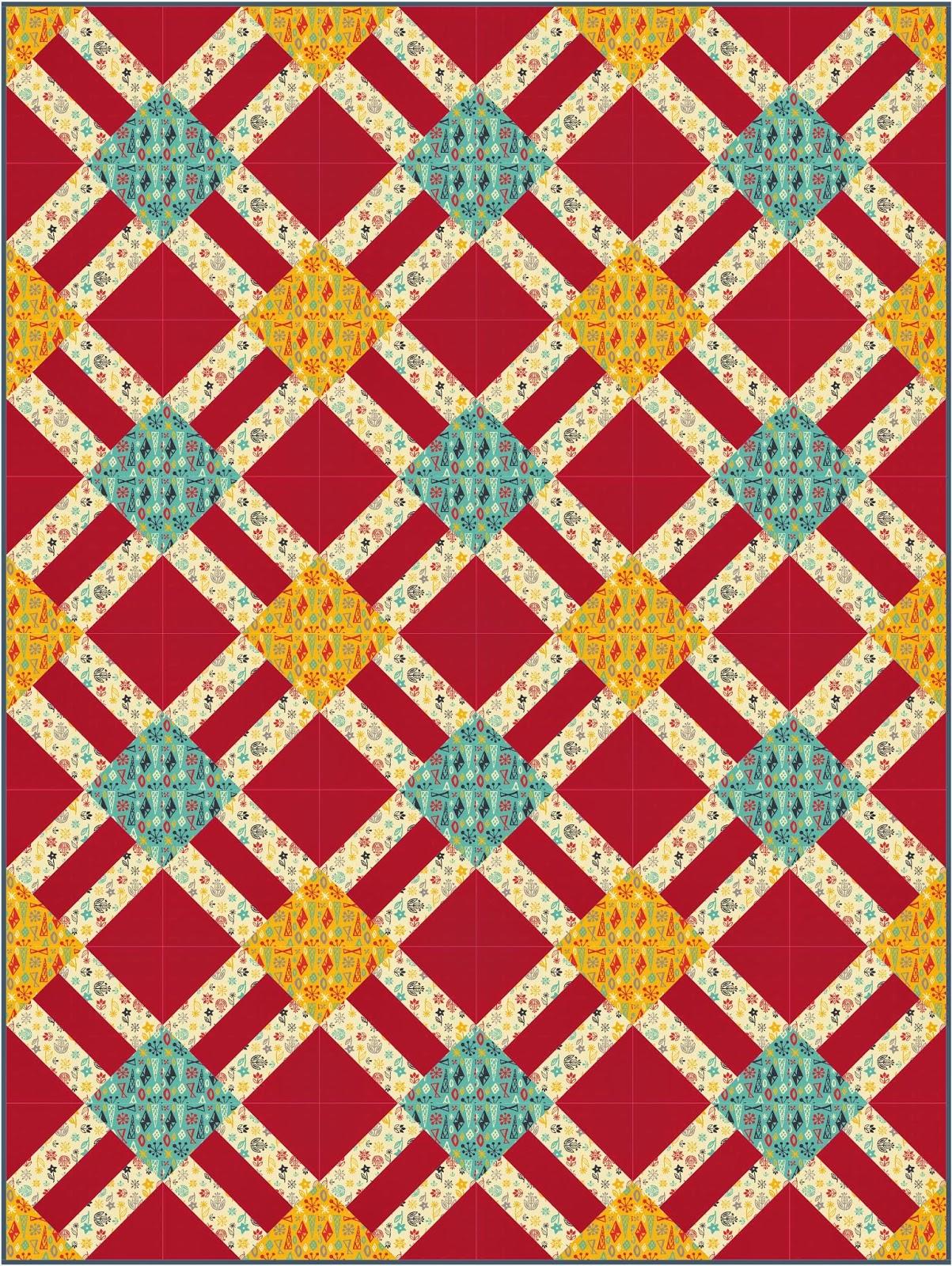 ... Designs: Cracker Lattice - A Free Quilt Pattern from Camelot Fabrics