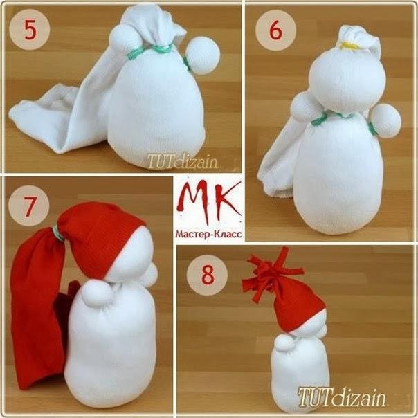 Как сделать снеговика из носков своими руками в домашних условиях