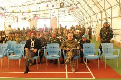 Dansatgas Indobatt Konga XXIII-J/Unifil Hadiri Perayaan Natal di Naqoura