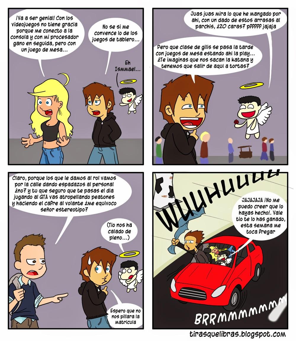 webcomic ye lo que hay, Ismmael Anna y el angelito van a unas jornadas de juegos de rol