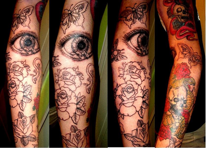 Tatuajes En El Brazo Sombras tatuaje manga en proceso*   nia courson tatuajes