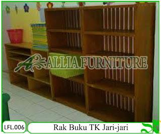 Rak Buku TK Klender Jari-Jari