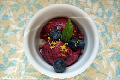Galexi Cupcakes & Sweets: Lemon Blueberry Sorbet
