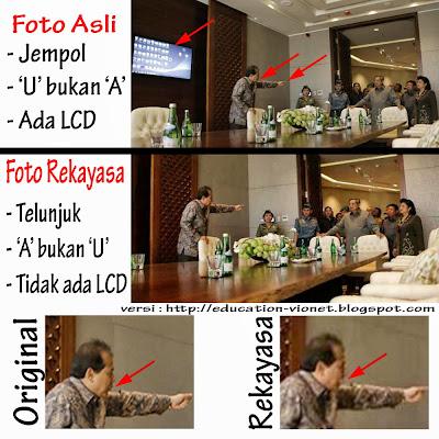 Foto Asli dan Rekayasa Chairul Tanjung (CT) Tunjuk Susilo Bambang Yudhoyono (SBY)