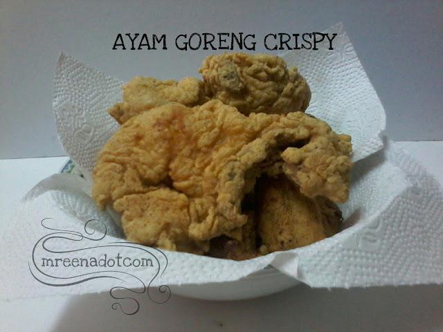Cara Buat Tepung Ayam Goreng Crispy