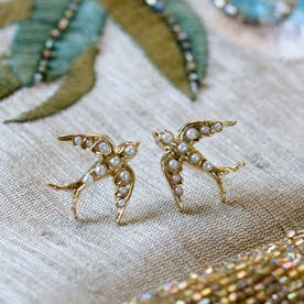Swallow stud earrings by Anusha