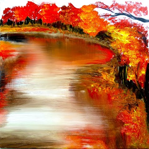 ABSTRACT LANDSCAPE PAINTING FREE VIDEO LESSON