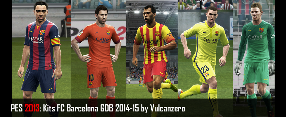 Descarga PES 2013: Kits FC Barcelona GDB 2014-15 by Vulcanzero