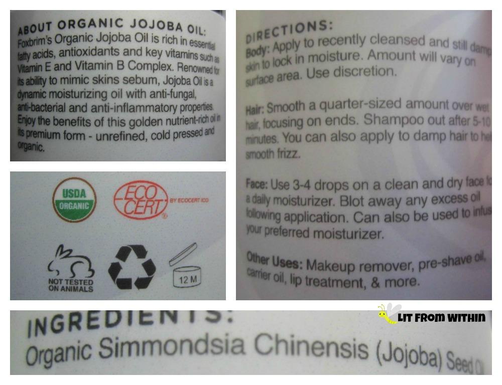 Foxbrim Organic Jojoba Oil