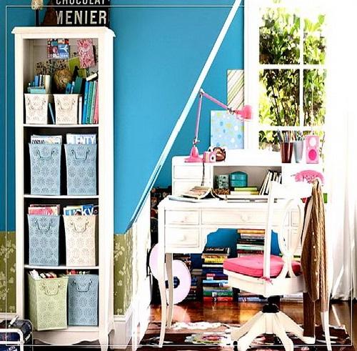 Decora y disena 17 ideas de cuarto de estudio para chicos - Habitaciones de estudio ...