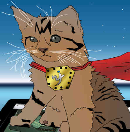 ipad casino with kitten super hero