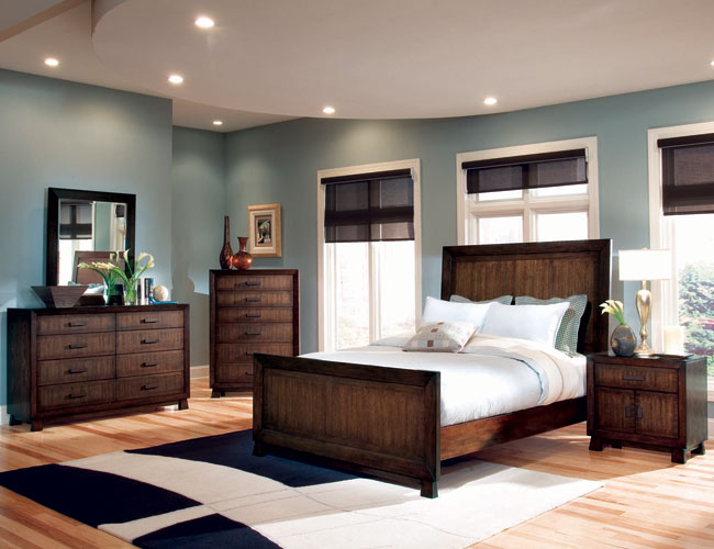 Bedroom Wall Color Ideas With Brown Furniture (8 Image)