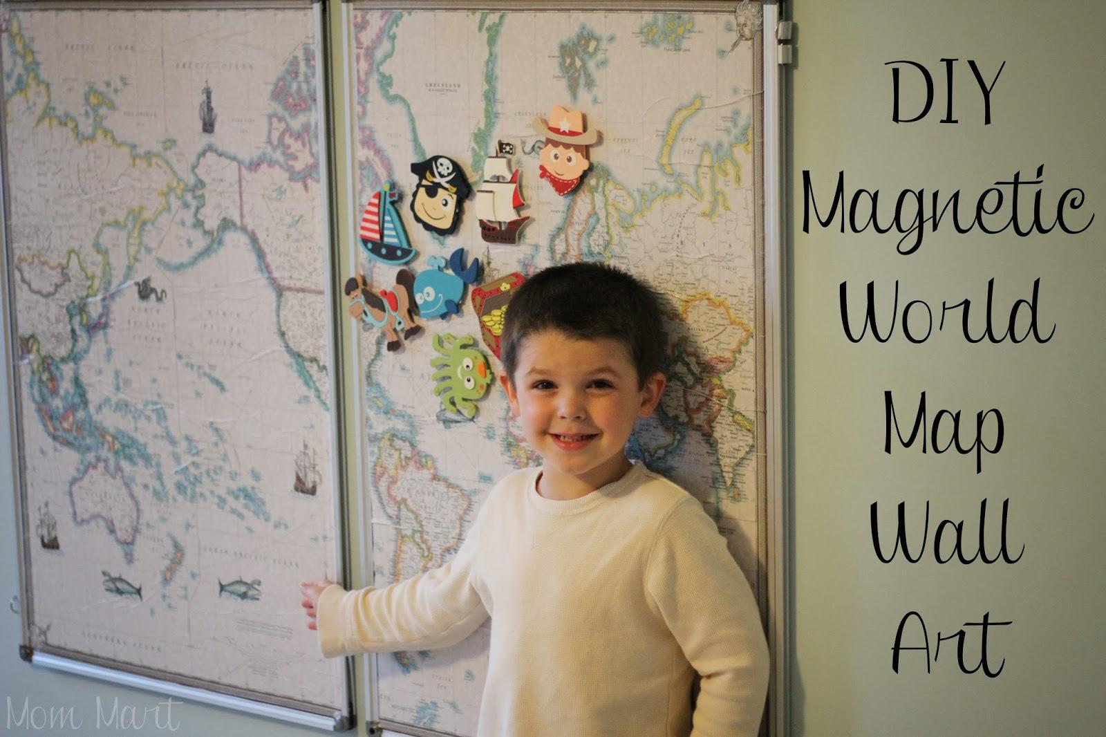 how to make an interactive world map wall art diy magnetic worldmap