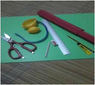 Lukisan alat dan bahan yang digunakan serta catatan