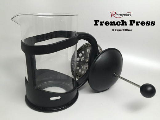 French Press, with Coffee Scoop, & Stencils #rstoyours