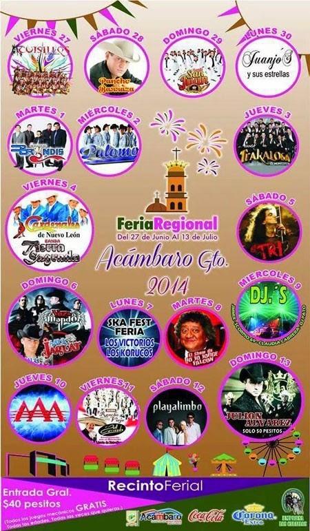 Programa Feria Acámbaro 2014