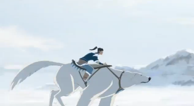 Avatar 2012 The Legend of Korra Korra Riding a Polar Bear
