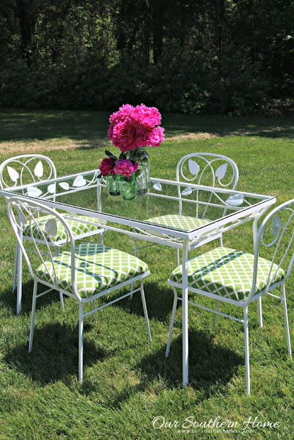 Our Southern Home Patio Furniture Makeover-Treasure Hunt Thursday- From My Front Porch To Yours