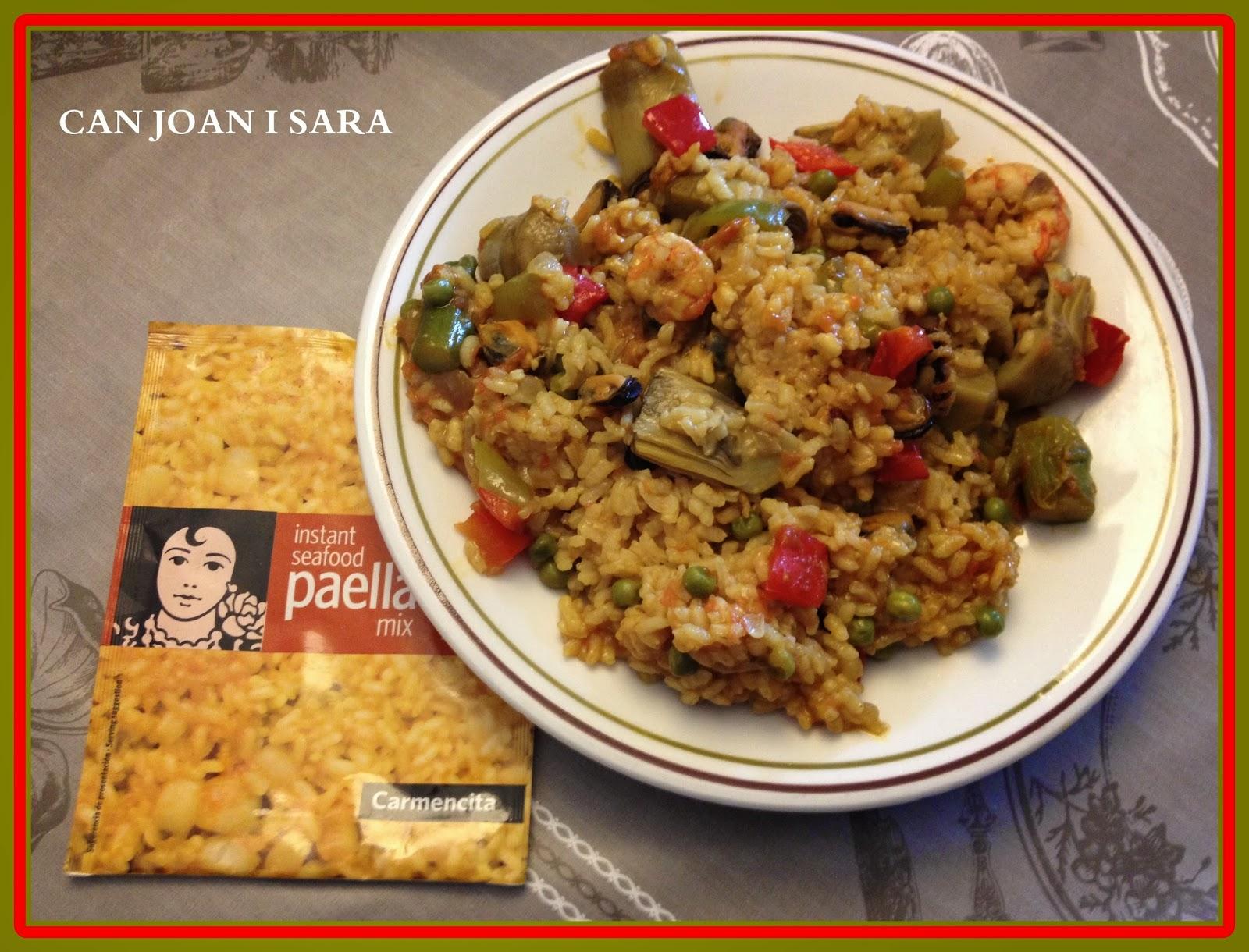 Paella de marisco y verduras con especias carmencita - Juegos de cocina con sara paella ...