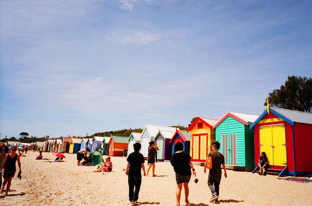 Brighton Beach Melbourne film photography fujifilm natura classica