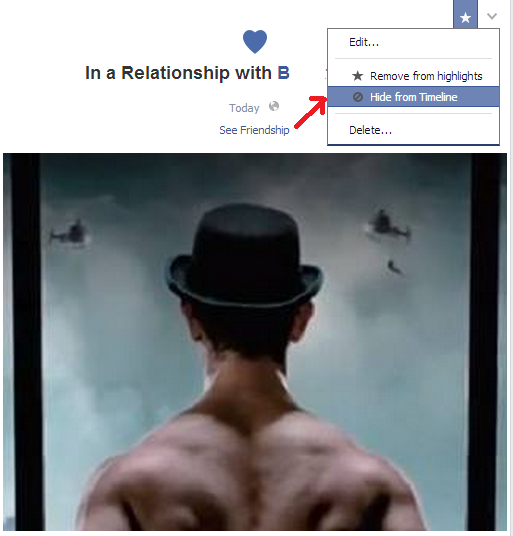 how to change your relationship status on facebook timeline without anyone knowing