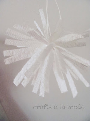 snowflake made with paper towels