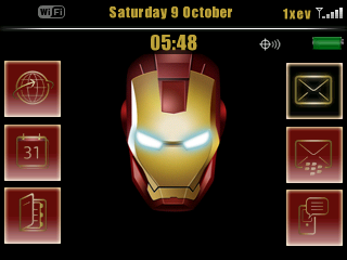 Tema IronMan for BlackBerry